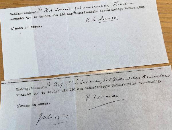 Lorentz en Zeeman melden zich aan voor NNV