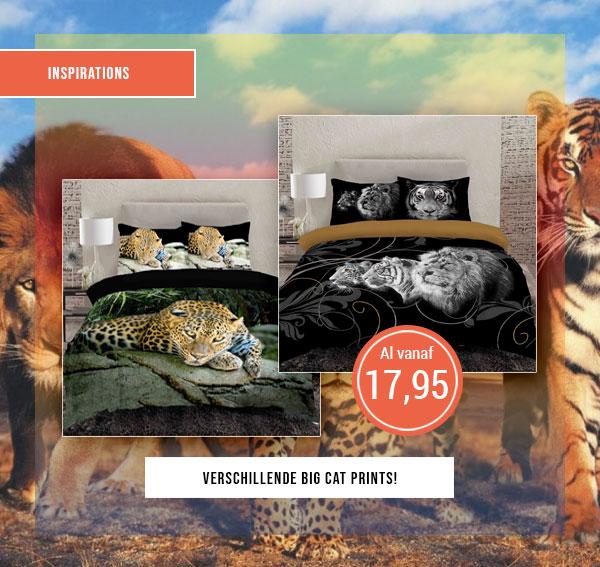 Prachtige overtrekken van Tijger, Luipaard en Leeuw
