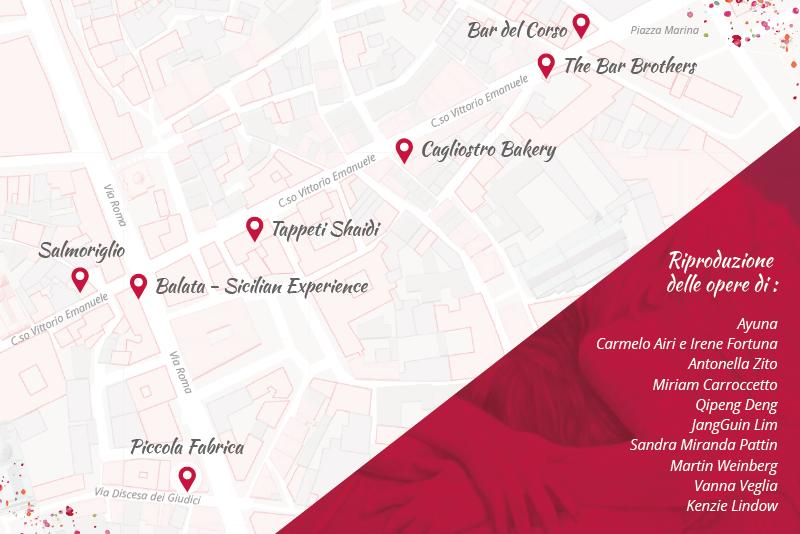 Mappa della mostra