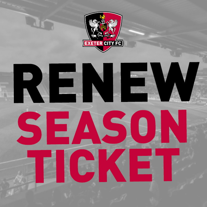 Renew Season Ticket for 2019-20