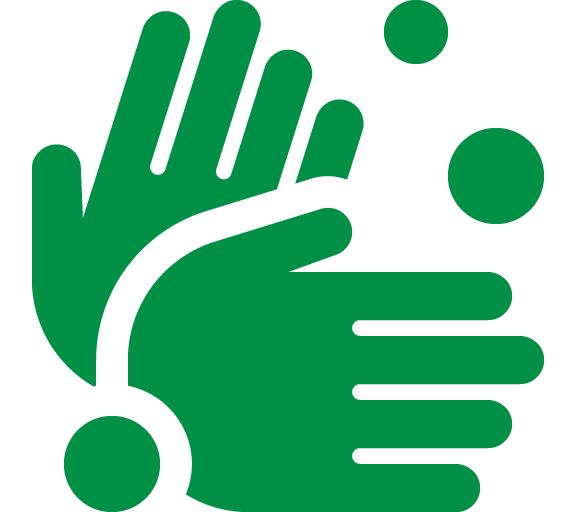 Lavar as mãos com água e sabão, sempre que possível;