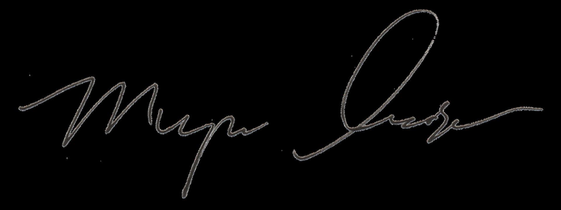 Myron Anderson signature
