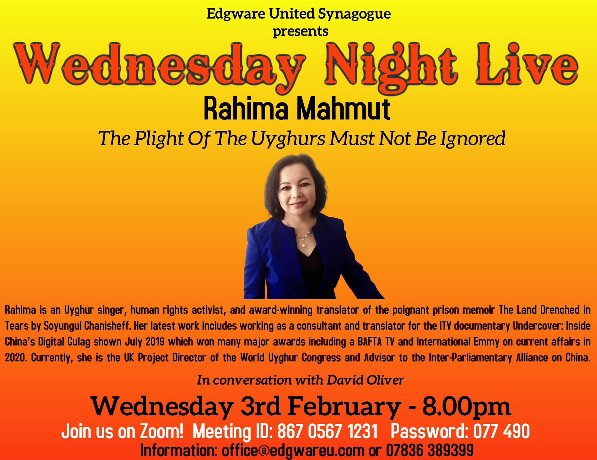 Edgware presents: Rahima Mahmut