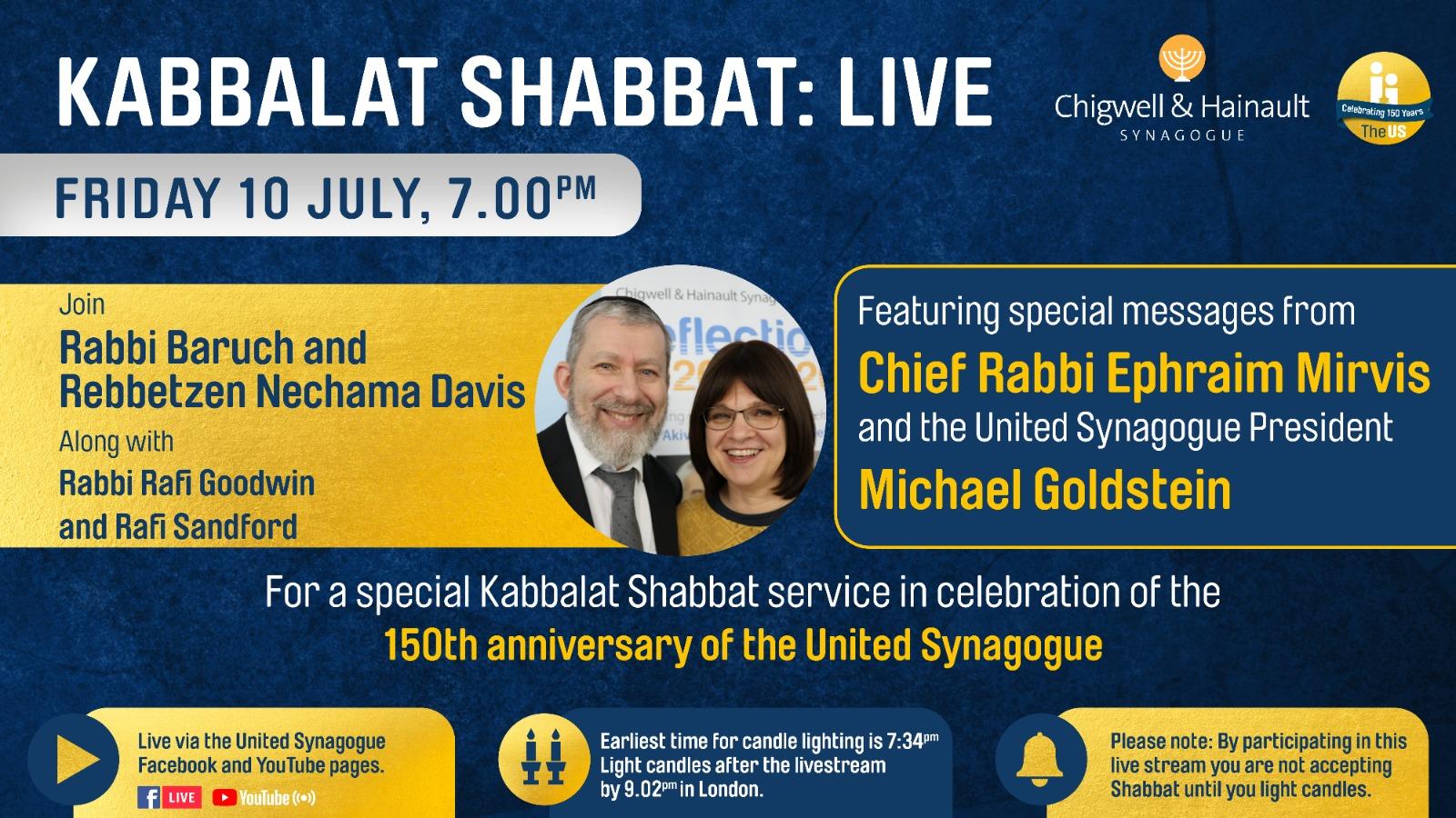 image of Kabbalat Shabbat this Friday