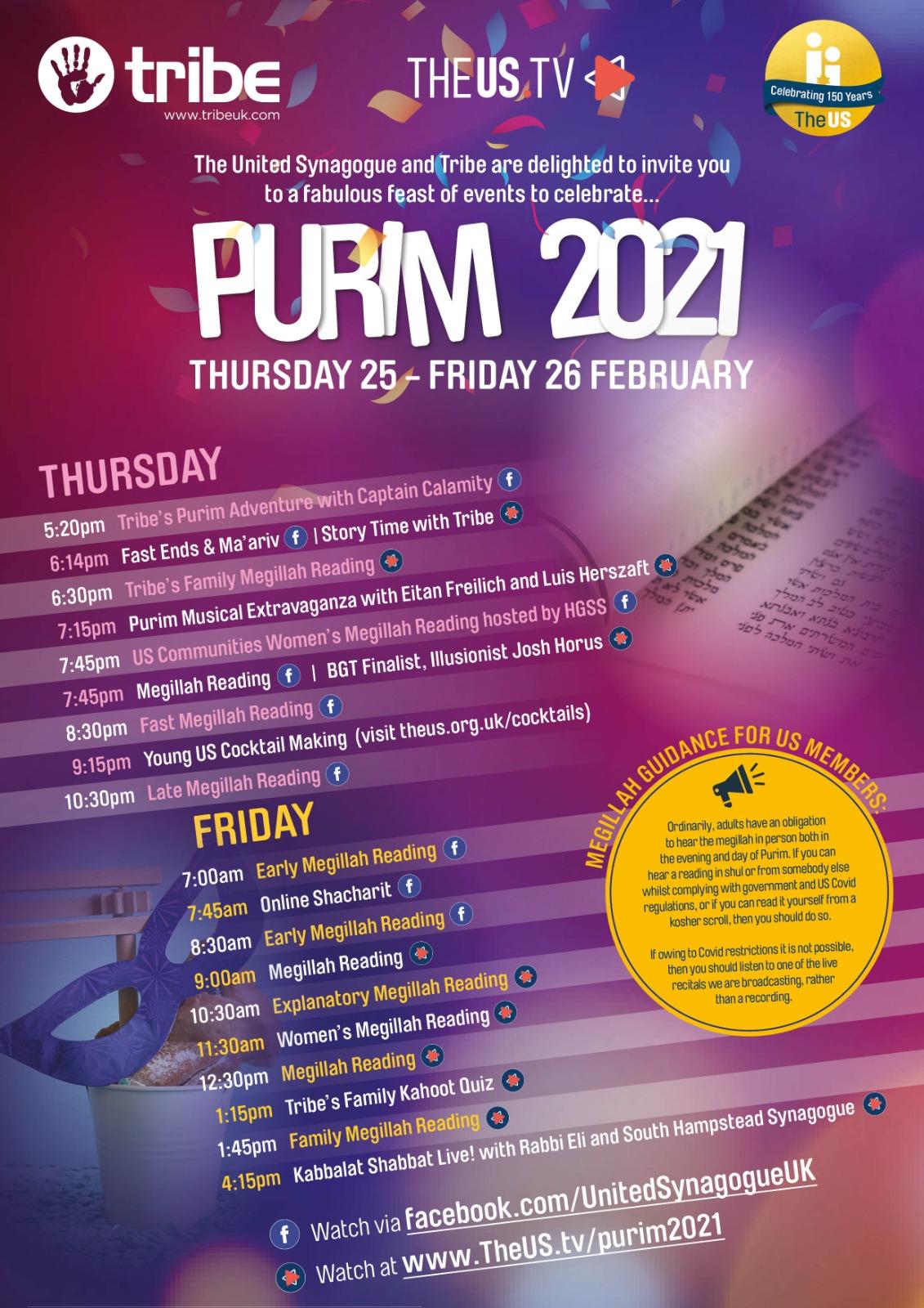 Purim 2021 live online