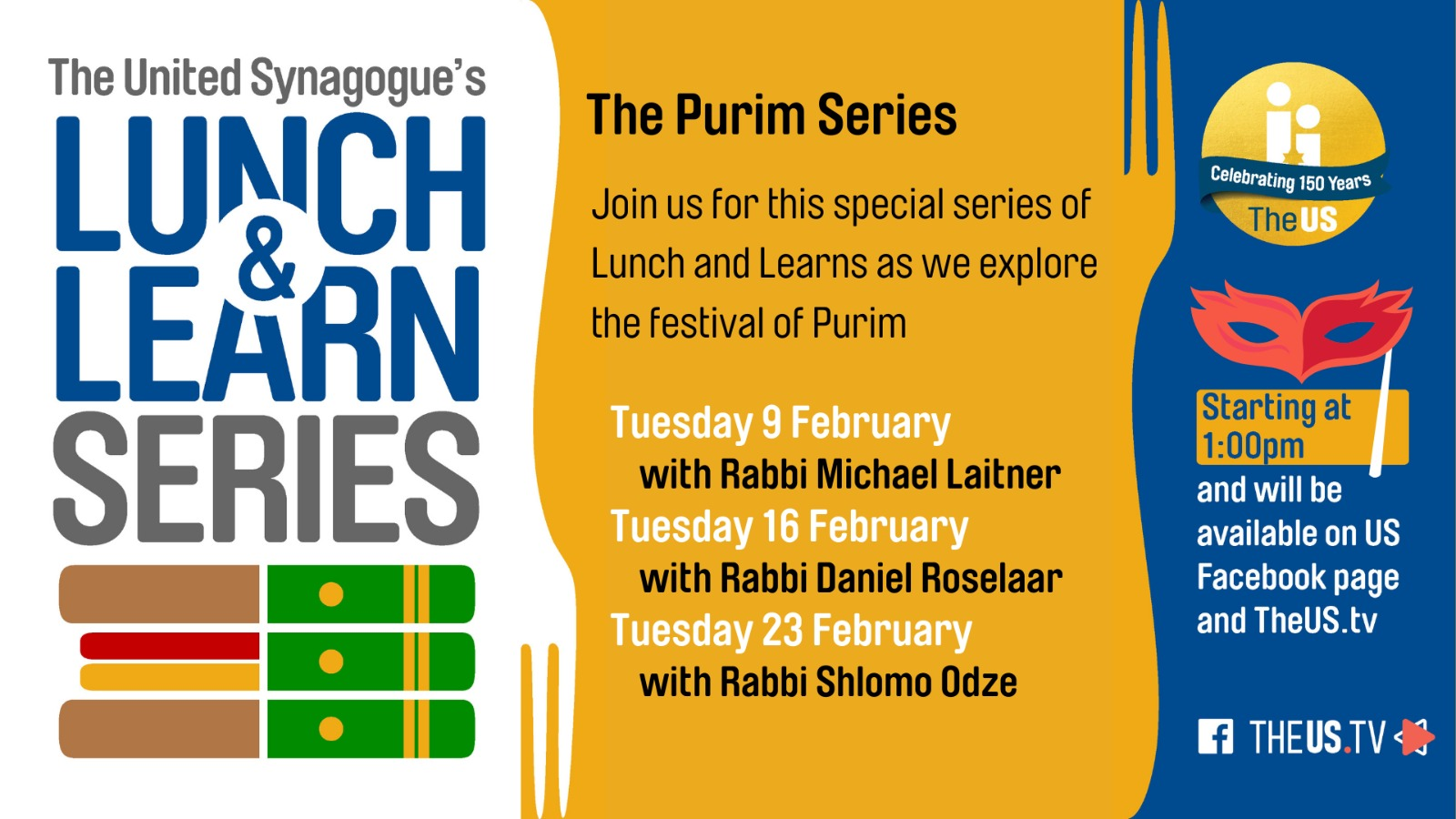 Lunch & Learn: The Purim Series