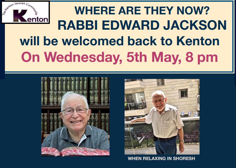 Kenton presents: Rabbi Jackson