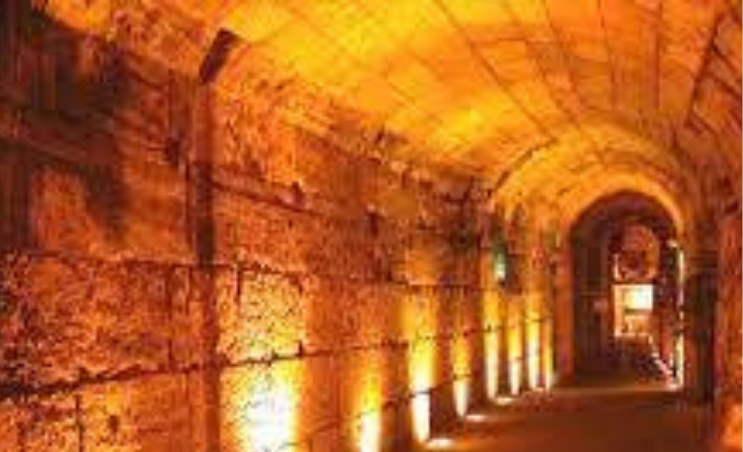 Virtual tour of the Kotel tunnels