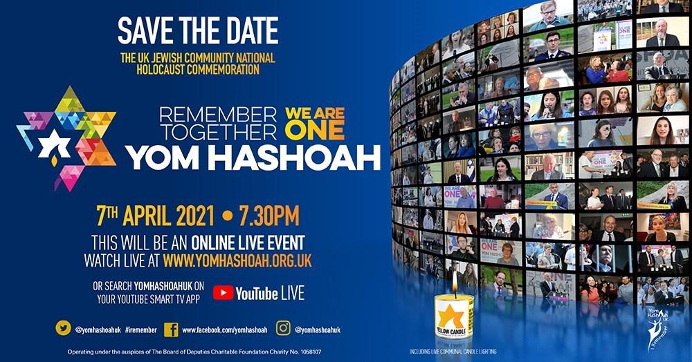 Yom Hashoah 7 April 7.30pm