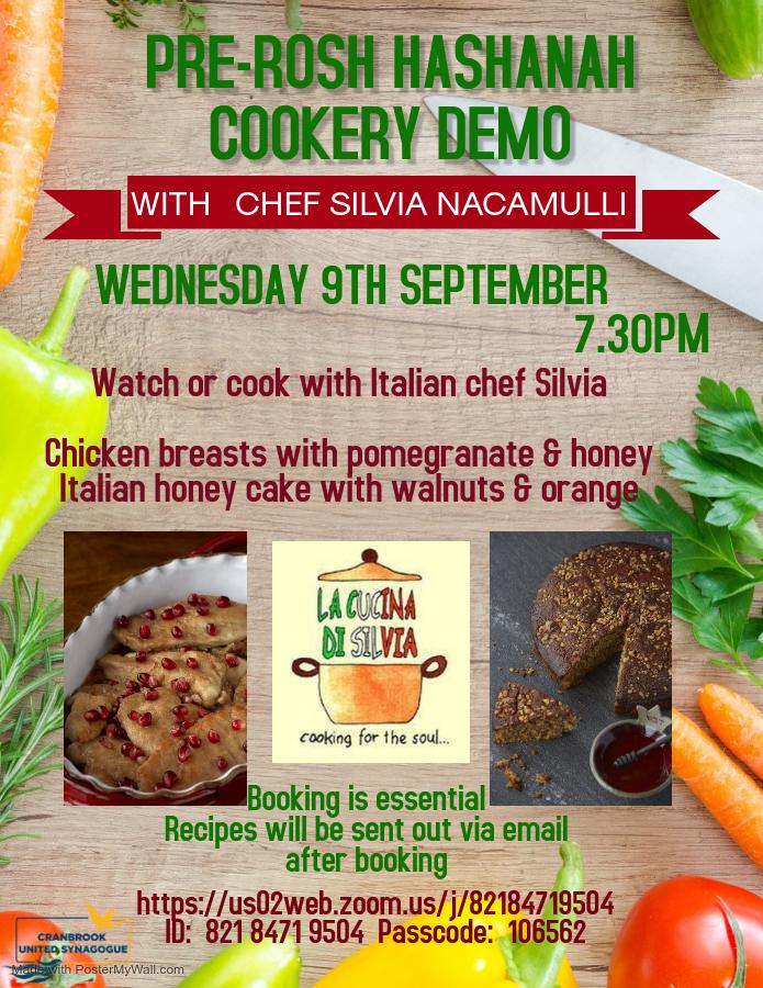 Pre-Rosh Hashanah Cookery Demo