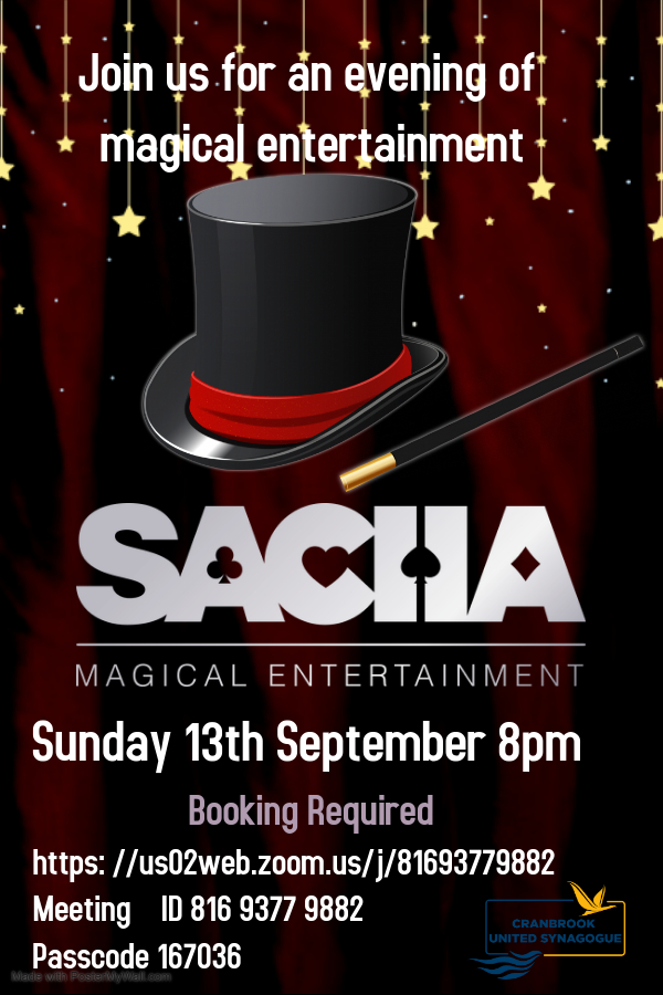 Zoom Magical Evening - 13th September 2020