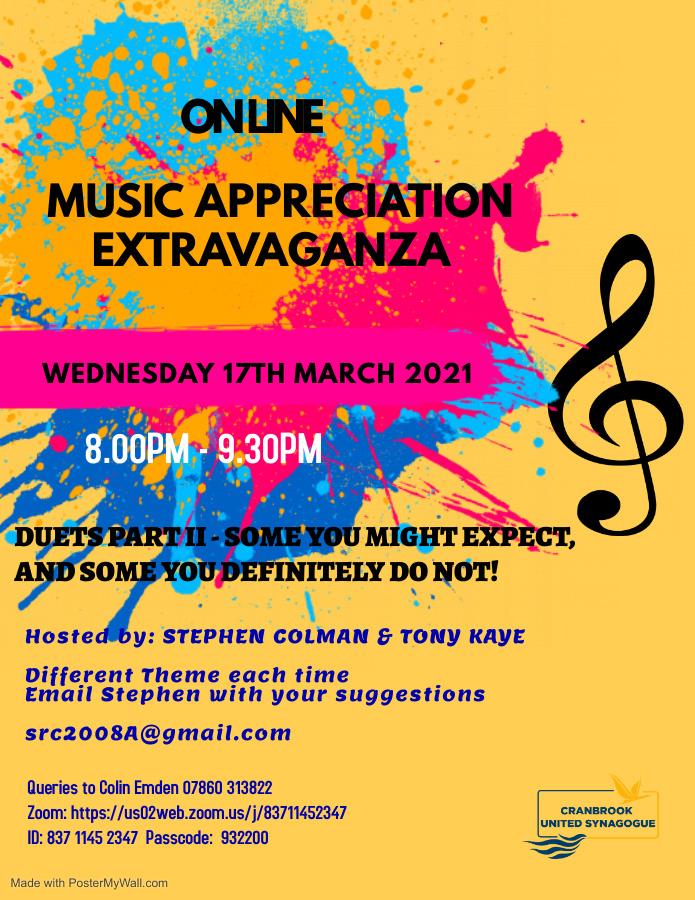 Online Music Appreciation Extravaganza