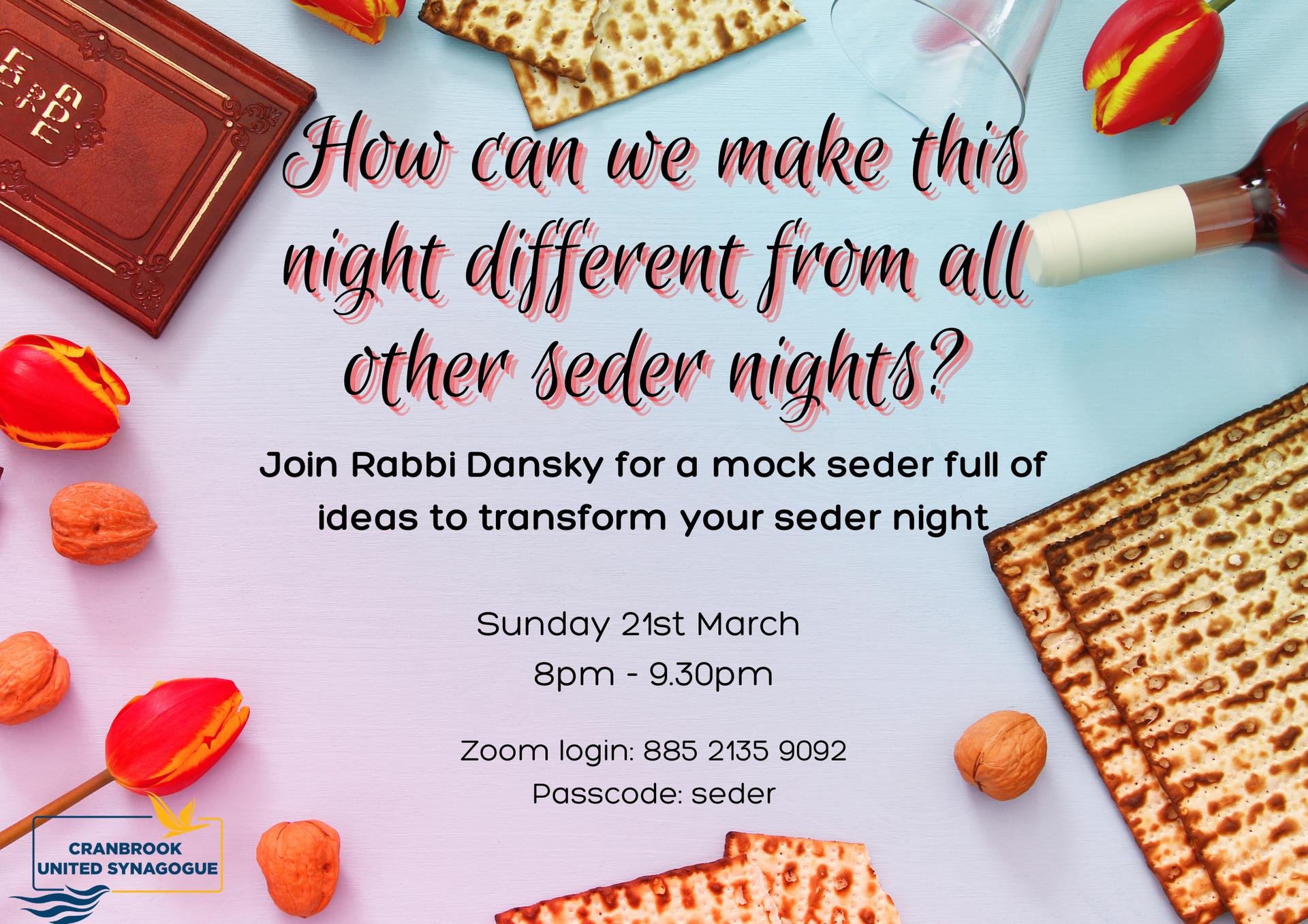 Demonstration Seder