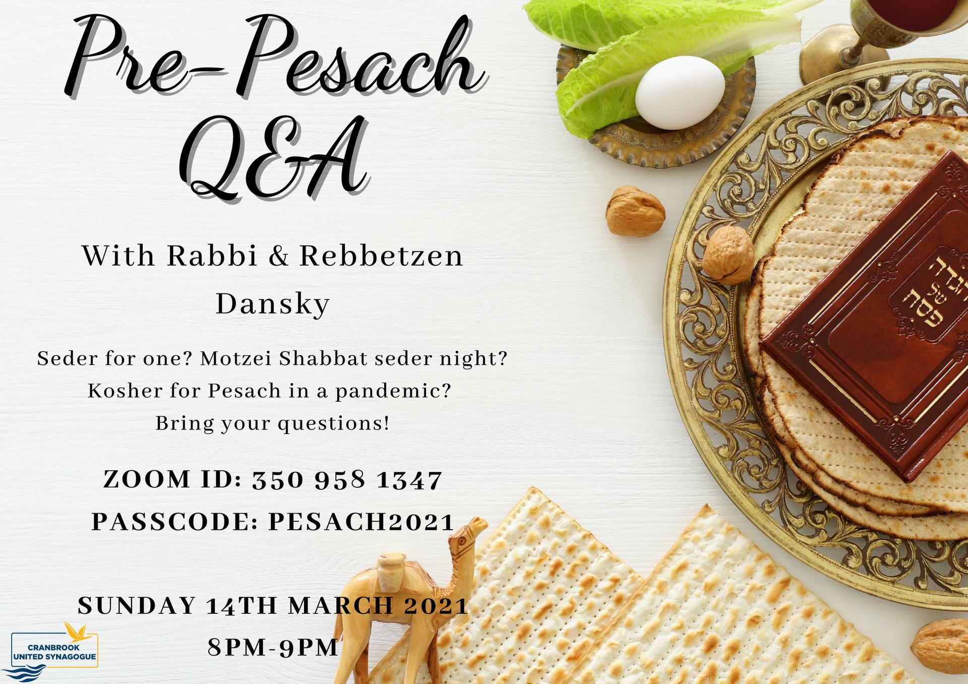 Pre-Pesach Q&A