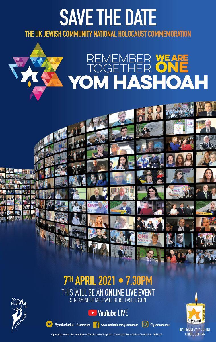 National Yom HaShoah UK Commemoration 2021