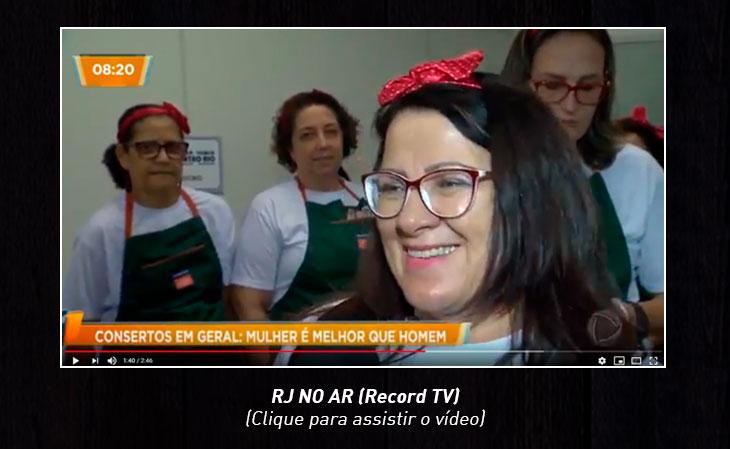 Assista a matéria que saiu no RJ NO AR da Record TV.