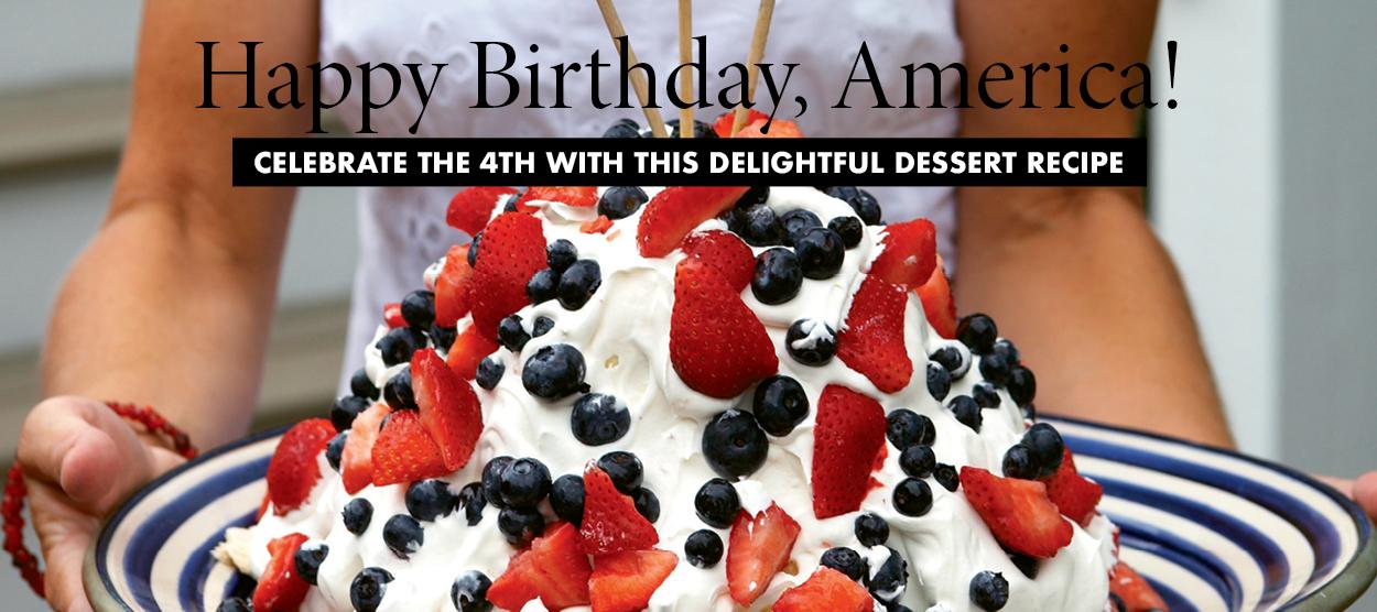 Happy Birthday America Cake