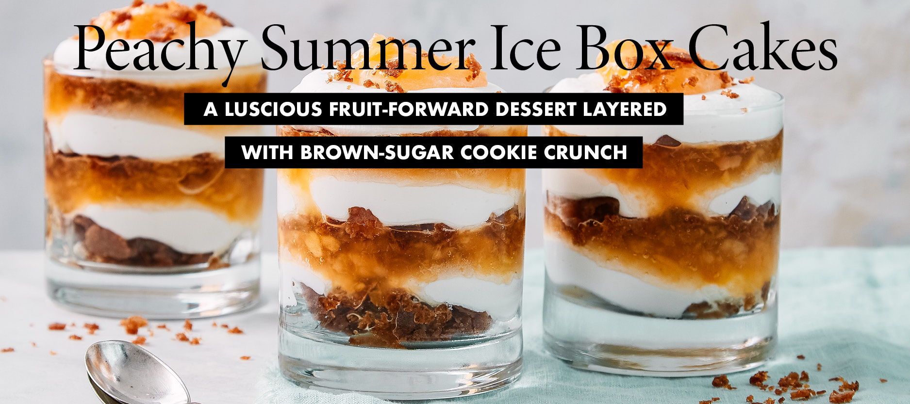 Peachy Summer Ice Box Cakes