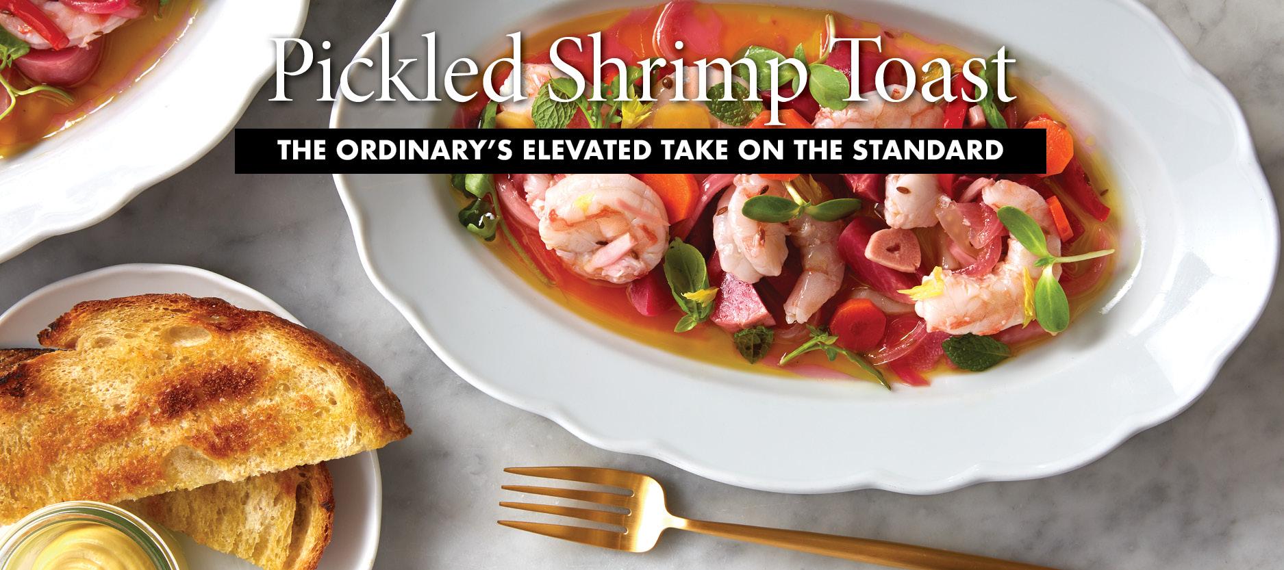 Pickled Shrimp Toast