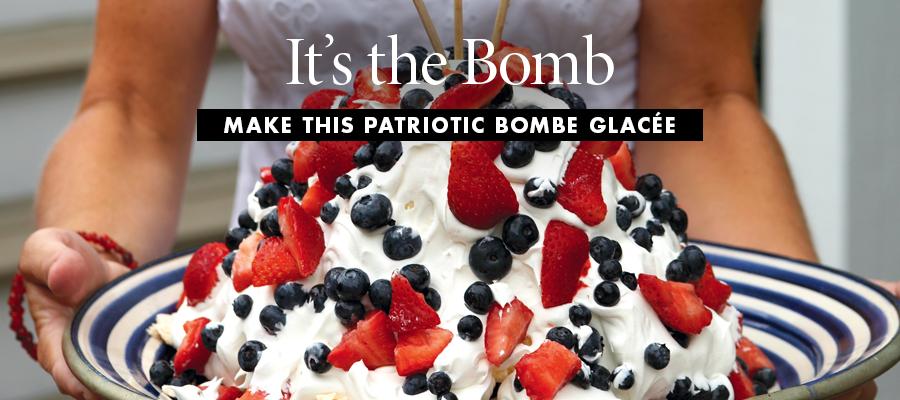 Patriotic Bombe Glacee recipe