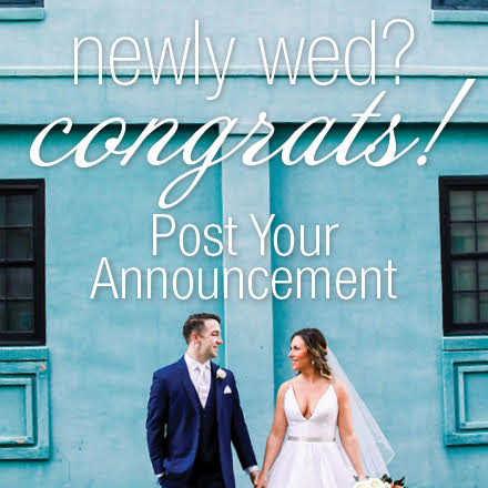 Submit your wedding announcement