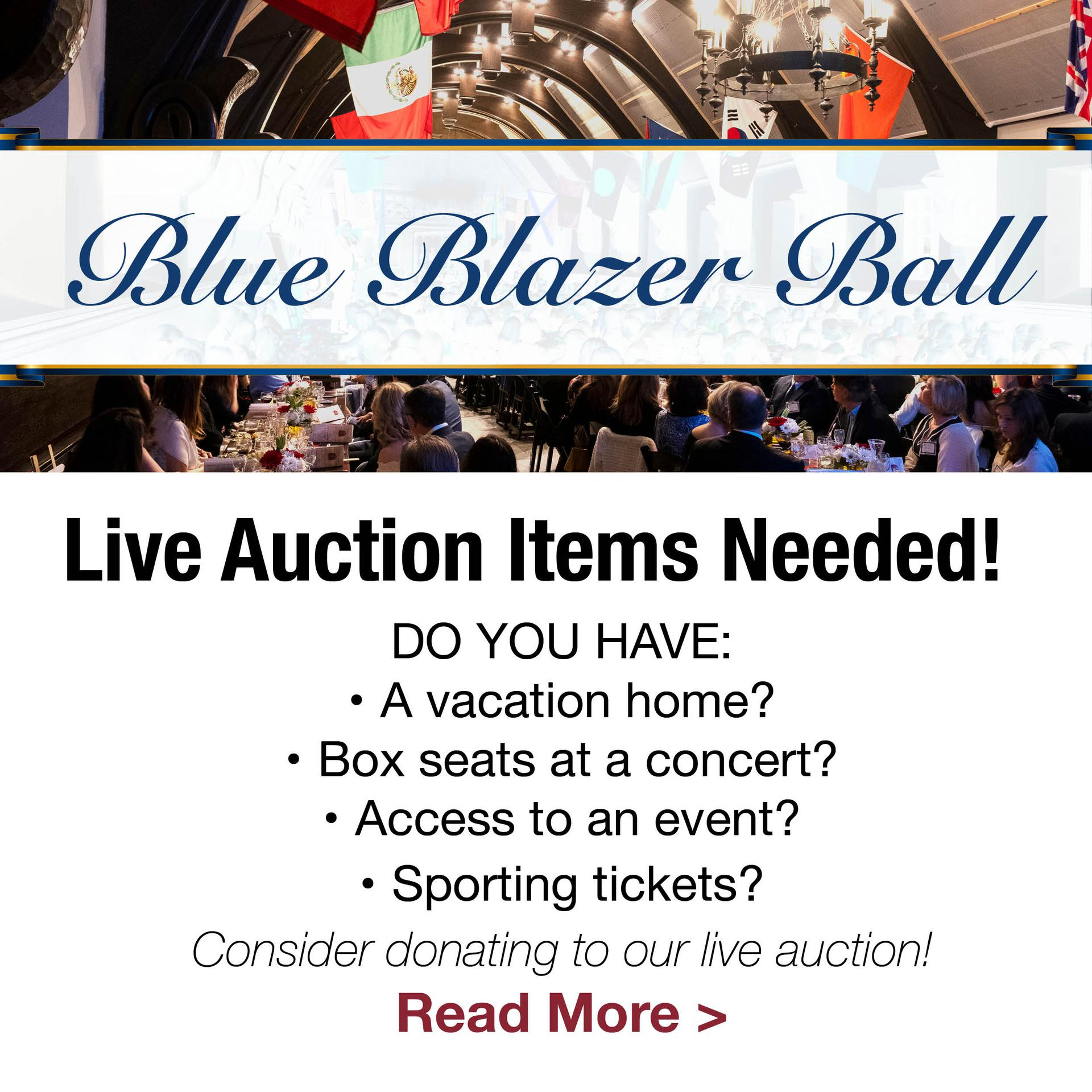 Blue Blazer Ball auction items