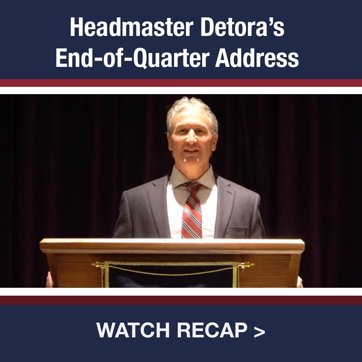 Headmaster's Address