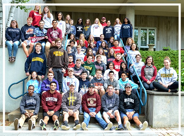 The Class of 2018 in their college sweatshirts