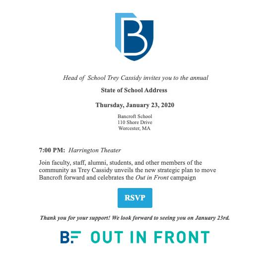 State of The School Invitation