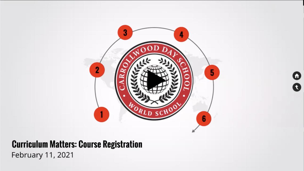 Curriculum Matters: Course Registration