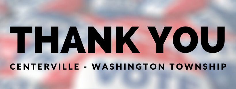 Image that reads Thank You Centerville-Washington Township