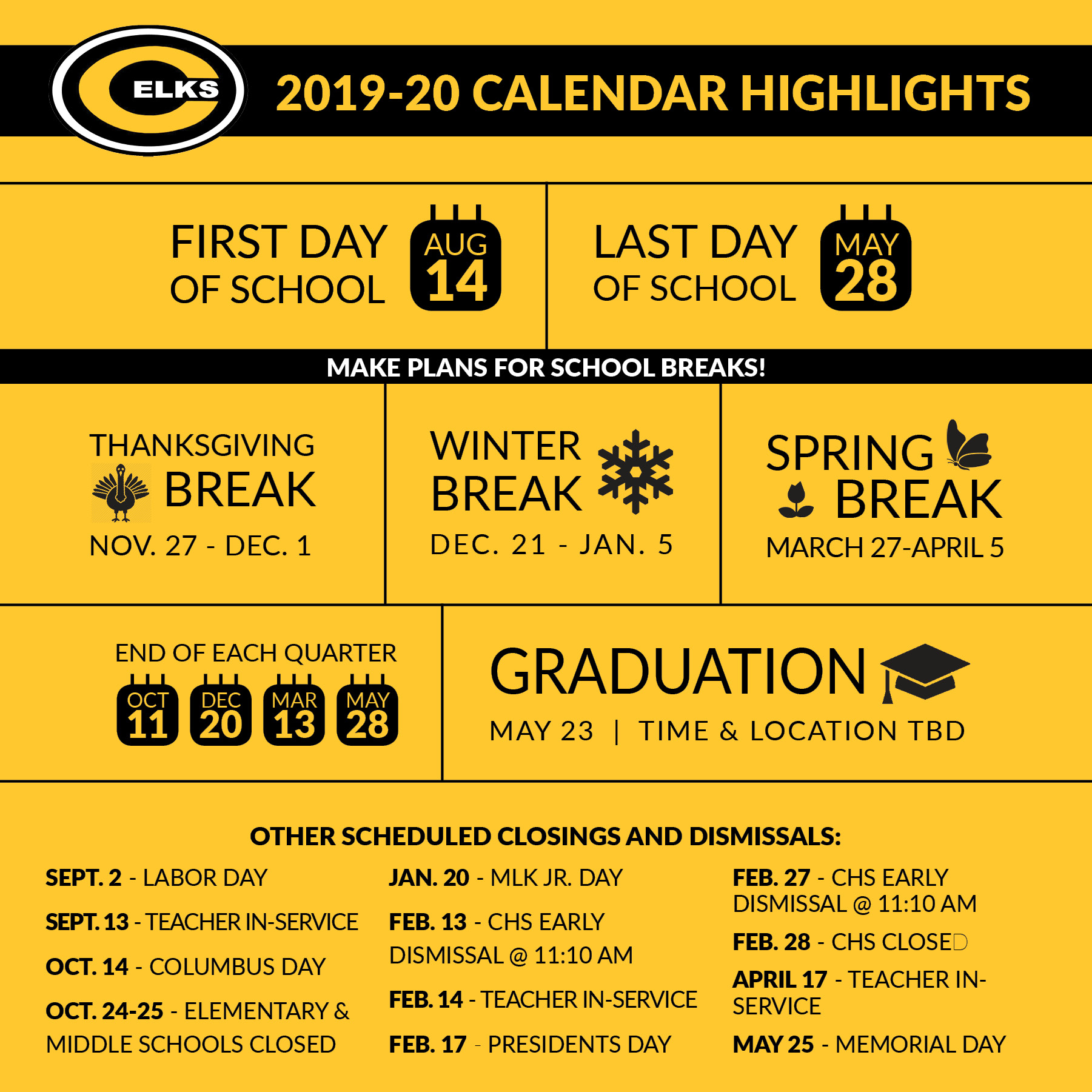 Montgomery County School Calendar 2019 20.Centerville City Schools Notes From The District And Community Jan 9