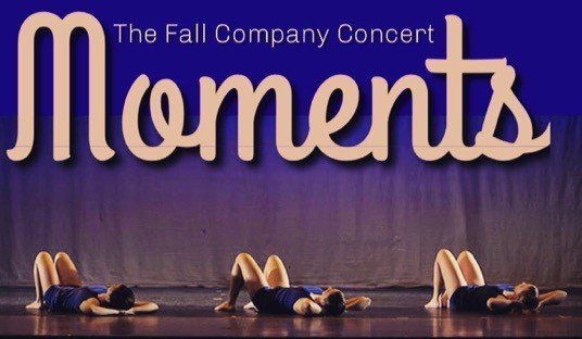 Image that reads Fall Company Concert Moments