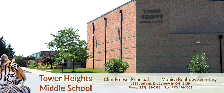 Image of Tower Heights logo and address