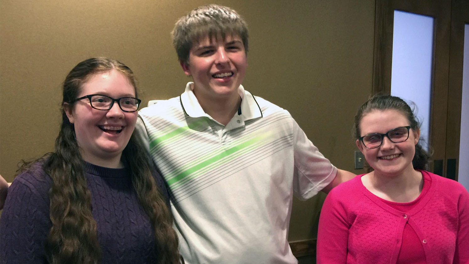 Image of three middle school students