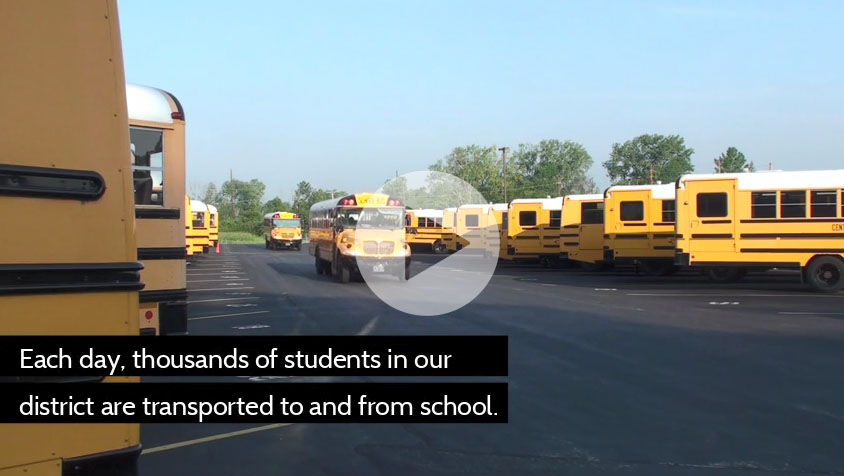 Screenshot of bus safety video
