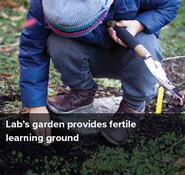 Lab's garden provides fertile learning ground