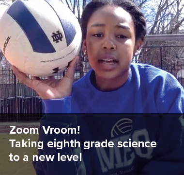 Zoom Vroom! Taking eighth grade science to a new level