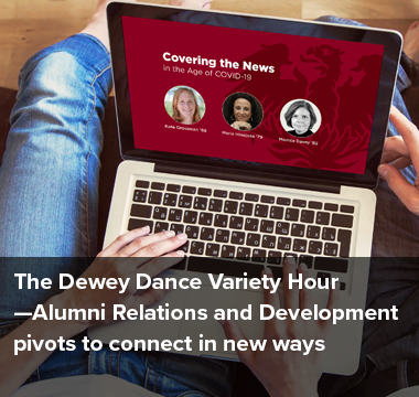 Alumni Relations and Development pivots to connect in new ways