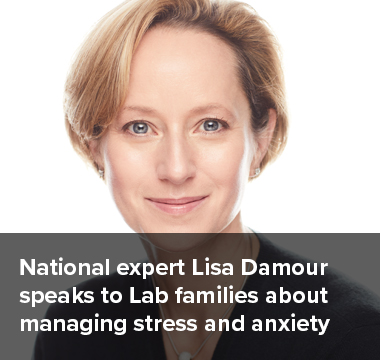 National Expert Lisa Damour speaks to Lab families about managing stress and anxiety