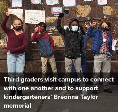 Third graders visit campus to connect