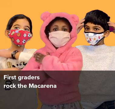 First Graders rock the Macarena