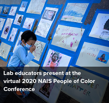 Lab educators present at the virtual 2020 NAIS People of Color Conference