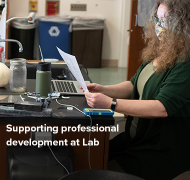 Supporting professional development at Lab