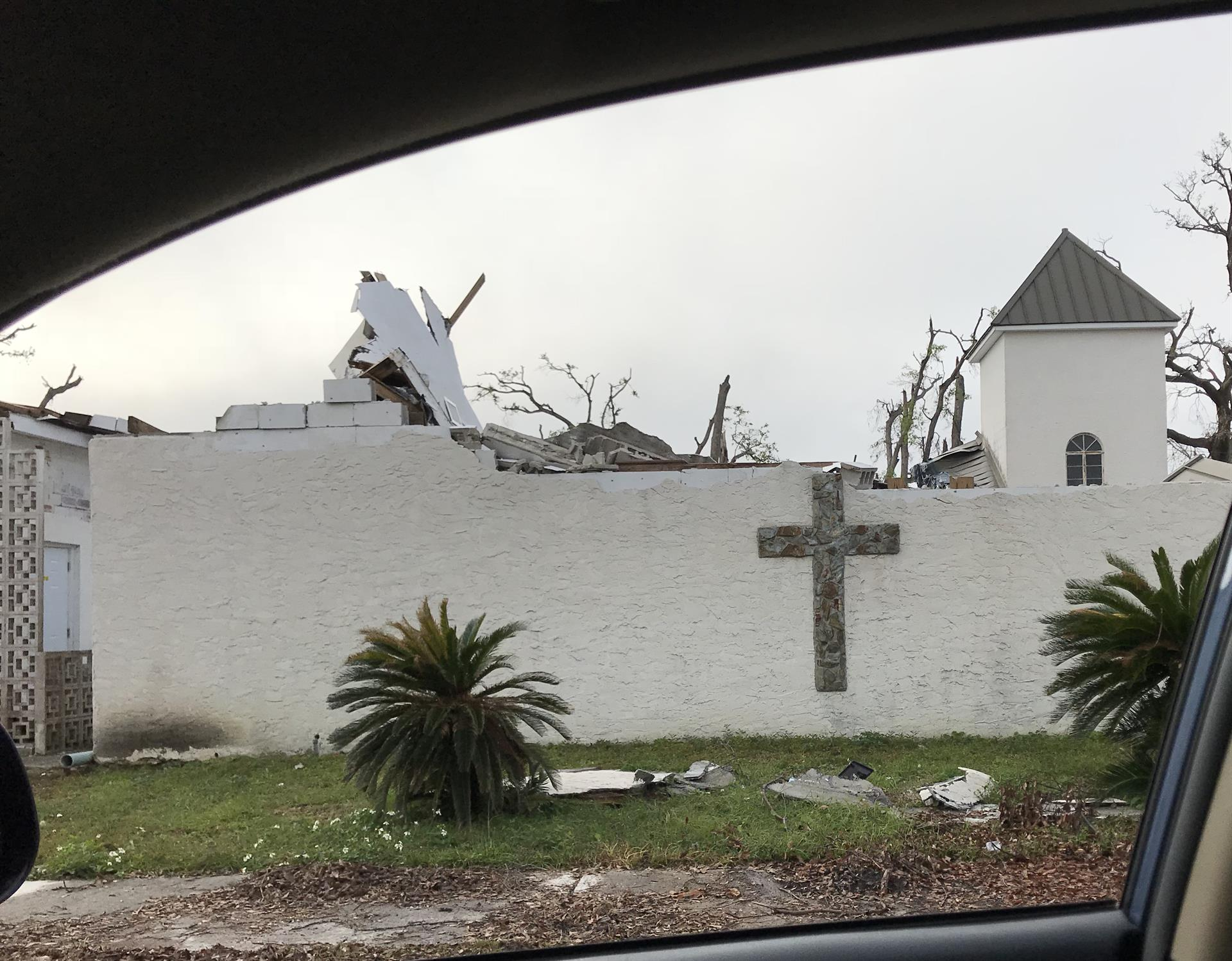 Hurricane-devastated church