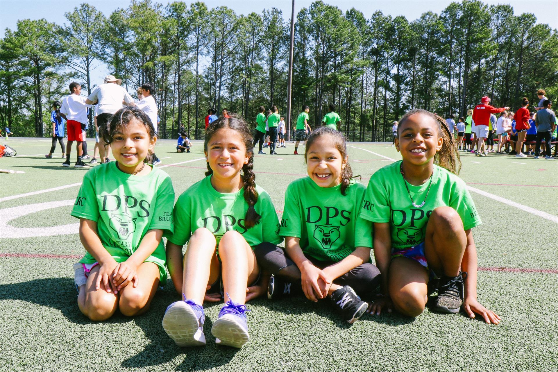 Girls at DPS Track Meet