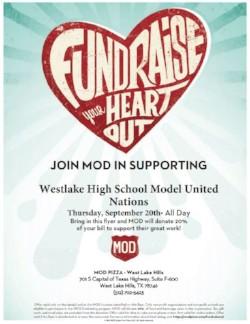 Model UN Mod Pizza Fundraiser
