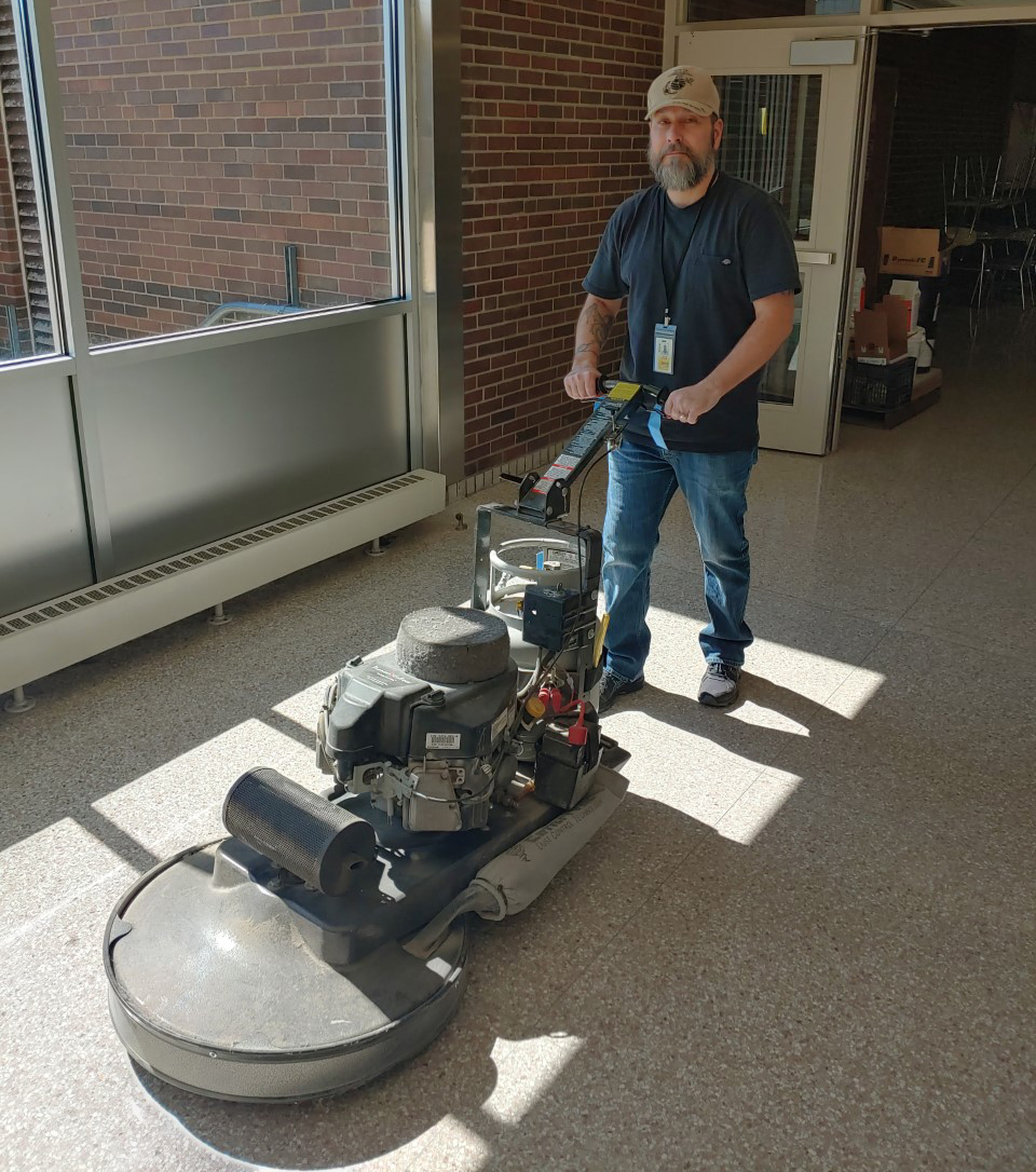 Buildings and Grounds staff - burnisher