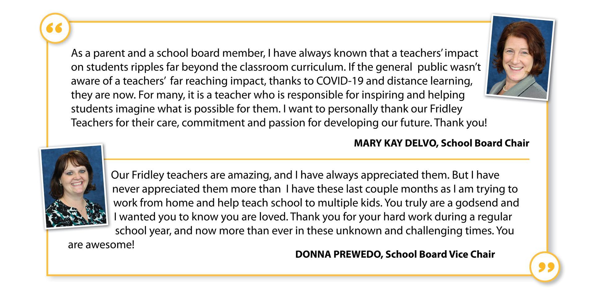 School Board - Teacher Salute
