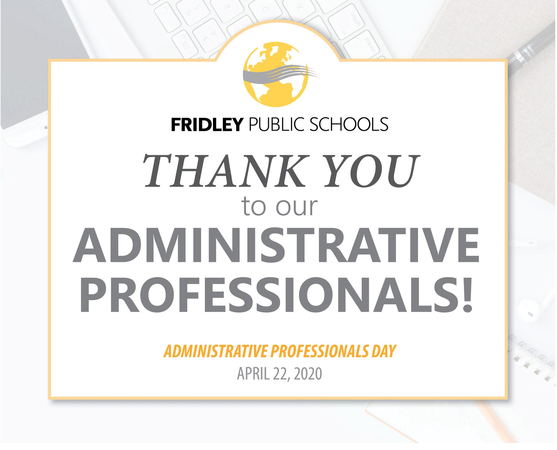 Thank You Administrative Professionals